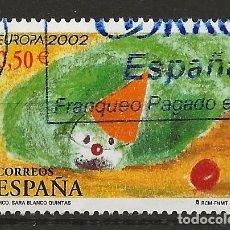Sellos: R30/ ESPAÑA USADOS 2002, EDIFIL 3896, EUROPA. Lote 112501455