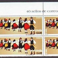 Francobolli: ESPAÑA. 4493 BAILES POPULARES: LA RUEDA, EN BLOQUE DE CUATRO. 2009. SELLOS NUEVOS Y NUMERACIÓN YVERT. Lote 112622662