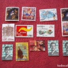 Sellos: SET SELLOS ESPAÑA ZONA EURO USADOS. Lote 112712887