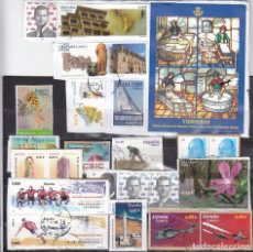 Sellos: LOTE NUMERO 11 CON SELLOS SIN LAVAR DE ESPAÑA. DESTACA FACIAL 2,70 EUROS VIDRIERAS 2009.. Lote 112806459