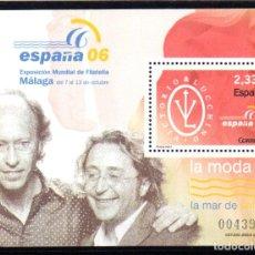 Sellos: ESPAÑA.- HOJA BLOQUE DEL AÑO 2006.- EN NUEVA SIN SEÑAL DE CHARNELA. Lote 112877347