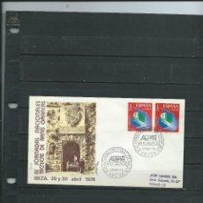 SOBRE CON MATASELLO ESPECIAL DE IBIZA JORNADA NACIONALES TECNICAS DE ARTES GRAFICAS DEL AÑO 1976