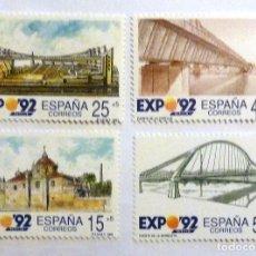 Sellos: SELLOS ESPAÑA 1991. EDIFIL 3100/3103. NUEVOS. EXPO 92. SEVILLA. ARQUITECTURA.. Lote 115611086