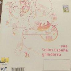 Sellos: LIBRO FILATELICO DE CORREOS AÑO 2009.ESPAÑA ANDORRA SIN SELLOS. Lote 113380087