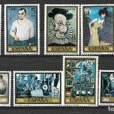 Sellos: PICASSO Y SUS PINTURAS. ESPAÑA. EMIT. 29-9-1978. Lote 128384078