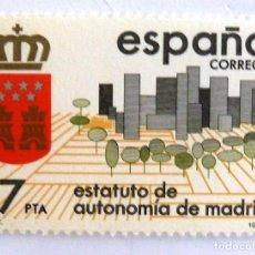 Sellos: SELLOS ESPAÑA 1984. EDIFIL 2742. NUEVO. ESTATUTOS DE AUTONOMIA. MADRID.. Lote 161559225