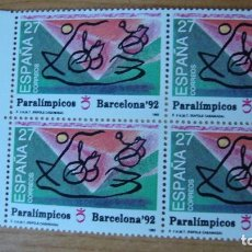 Sellos: ESPAÑA 1992 EDIFIL 3192 BLOQUE 4 PERFECTOS. Lote 114182219