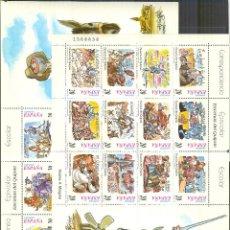 Sellos: 3560/83 DON QUIJOTE DE LA MANCHA Y SANCHO PANZA MINGOTE 1998 CERVANTES 2 HOJAS NUEVOS. Lote 114259311