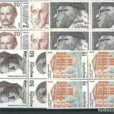 Sellos: ESPAÑA 1987 EDIFIL 2880/84** CENTENARIOS EN BLOQUES DE 4. Lote 114369395