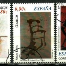 Sellos: ESPAÑA 2011- EDI 4664B-C-D (ARTE CONTEMPORANEO: A. TÁPIES) USADOS. Lote 114576715