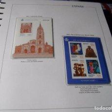 Sellos: ESPAÑA 2 HOJAS BLOQUE AÑO 2012 CATEDRAL DE OVIEDO Y ARTE MANOLO VALDES LAS DE LA FOTO NUEVAS. Lote 114607775