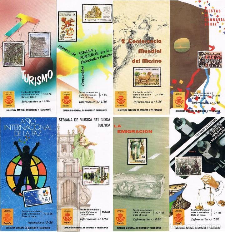 ESPAÑA 1986 22 FOLLETOS AÑO VER DESCRIPCIONES (Sellos - España - Juan Carlos I - Desde 1.986 a 1.999 - Nuevos)