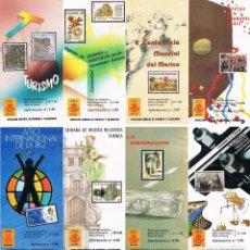 Sellos: ESPAÑA 1986 22 FOLLETOS AÑO VER DESCRIPCIONES. Lote 114937383