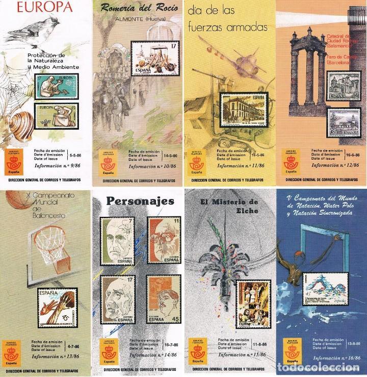 Sellos: ESPAÑA 1986 22 FOLLETOS AÑO VER DESCRIPCIONES - Foto 2 - 114937383