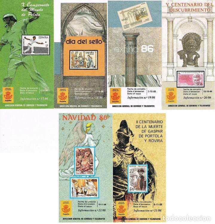 Sellos: ESPAÑA 1986 22 FOLLETOS AÑO VER DESCRIPCIONES - Foto 3 - 114937383