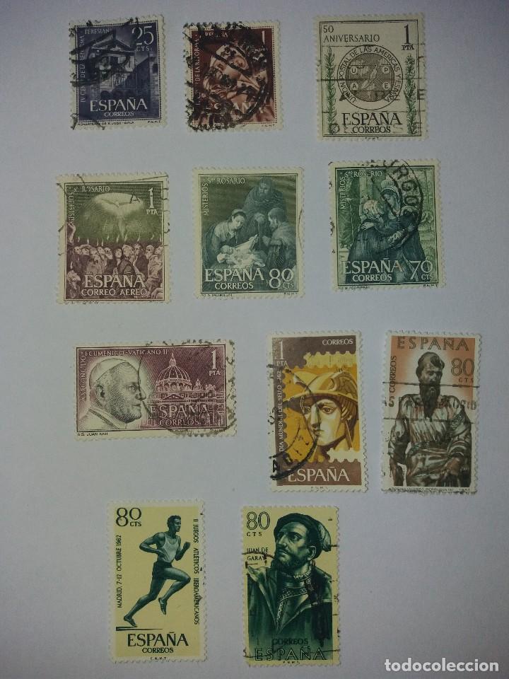11 SELLOS DEL AÑO 1962 (Sellos - España - Juan Carlos I - Desde 1.975 a 1.985 - Usados)
