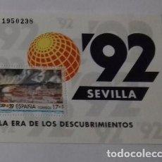 Sellos: EXPOSICION UNIVERSAL SEVILLA 92 SIN CHARNELA. Lote 115083747