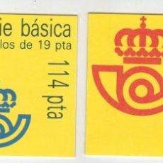 Sellos: 5 PAREJAS DE CARNETS CON SELLOS DEL REY JUAN CARLOS AÑO 1986. Lote 115167583