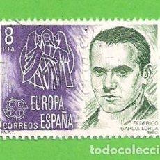 Sellos: EDIFIL 2568. EUROPA-CEPT. - FEDERICO GARCÍA LORCA, 1898-1936. (1980).. Lote 115237063
