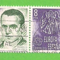 Sellos: EDIFIL 2568. EUROPA-CEPT. - FEDERICO GARCÍA LORCA, 1898-1936. (1980).. Lote 115237243
