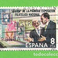 Sellos: EDIFIL 2576. 50 ANIV. DE LA 1ª EXPOSICIÓN FILATÉLICA NACIONAL - ALFONSO XIII VISITANDOLA. (1980).. Lote 115238203