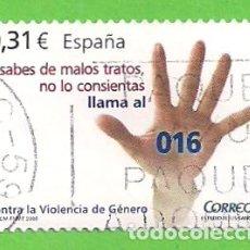 Sellos: EDIFIL 4389. CONTRA LA VIOLENCIA DE GÉNERO. (2008).. Lote 115308363