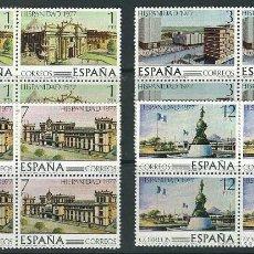 Sellos: ESPAÑA / SPAIN 1977 HISPANIDAD EDIFIL 2439/2442** 10 SERIES COMPLETAS EN BLOQUES DE 4. Lote 115493611