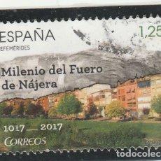 Sellos: ESPAÑA 2017 - EDIFIL NRO. 5154 : FUERO DE NAJERA - USADO. Lote 115621582