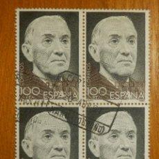Sellos: SELLO - ESPAÑA - CORREOS - RAMÓN PÉREZ DE AYALA - EDIFIL 2578 - 1988 - USADOS - BLOQUE DE 4. Lote 115680892