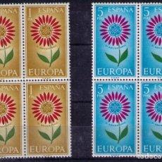 Sellos: 1964 EDIFIL 1613/14** NUEVOS SIN CHARNELA. BLOQUE DE CUATRO. EUROPA-CEPT. Lote 116066807