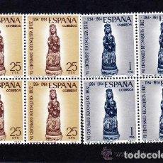 Sellos: 1964 EDIFIL 1615/16** NUEVOS SIN CHARNELA. BLOQUE DE CUATRO. RECONQUISTA DE JEREZ. Lote 116067147