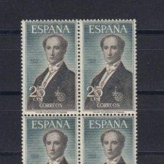 Sellos: 1965 EDIFIL 1653** NUEVOS SIN CHARNELA. BLOQUE DE CUATRO. PERSONAJES. Lote 116069819