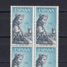 Sellos: 1965 EDIFIL 1654** NUEVOS SIN CHARNELA. BLOQUE DE CUATRO. PERSONAJES. Lote 116069983