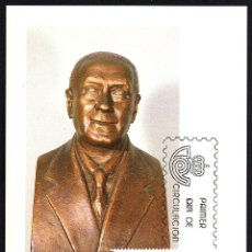 Sellos: TARJETA MAXIMA CENTENARIOS 1983 - JOAQUIN TURINA. Lote 116071087