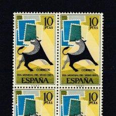 Sellos: 1965 EDIFIL 1669** NUEVOS SIN CHARNELA. BLOQUE DE CUATRO. DIA MUNIDAL DEL SELLO. Lote 116071299