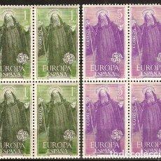 Sellos: 1965 EDIFIL 1675/76** NUEVOS SIN CHARNELA. BLOQUE DE CUATRO. EUROPA-CEPT. Lote 116071815