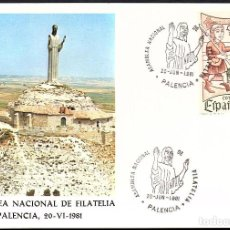 Sellos: TARJETA ASAMBLEA NACIONAL DE FILATELIA - PALENCIA 1.981. Lote 116071851