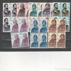Sellos: 1965 EDIFIL 1678/85** NUEVOS SIN CHARNELA. BLOQUE DE CUATRO. FORJADORES. Lote 116072555