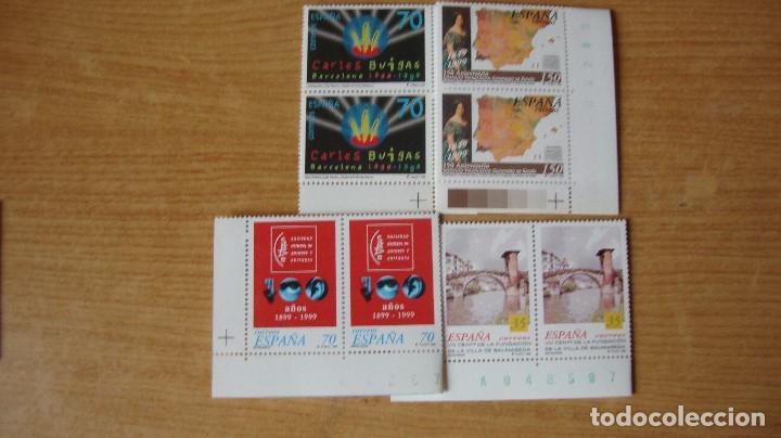 ESPAÑA 1999 EDIFIL 3651/54 PAREJAS NUEVOS PEFECTOS (Sellos - España - Juan Carlos I - Desde 1.986 a 1.999 - Nuevos)