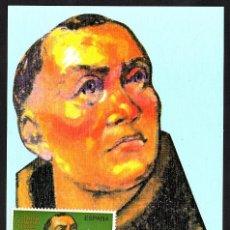 Sellos: TARJETA MAXIMA FRAY TORIBIO DE BENAVENTE CON MATASELLOS PRIMER DIA 1991. Lote 116698379