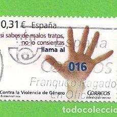 Sellos: EDIFIL 4389. CONTRA LA VIOLENCIA DE GÉNERO. (2008).. Lote 117139563
