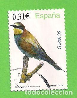 EDIFIL 4378. FLORA Y FAUNA - ABEJARUCO COMÚN. (2008). (Sellos - España - Juan Carlos I - Desde 2.000 - Usados)