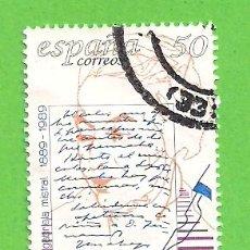 Selos: EDIFIL 3013. CENTENARIOS - GABRIELA MISTRAL. (1989).. Lote 117366443