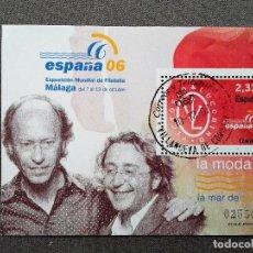 Sellos: ESPAÑA 2006, HOJA BLOQUE , LA MODA: VICTORIO & LUCCINO, USADO, CON GOMA INTACTA . Lote 117813075