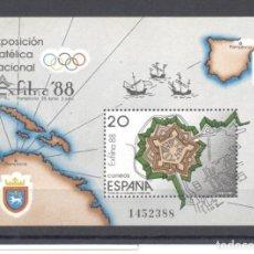 Sellos: ESPAÑA- EXPO. FILATÉLICA NACIONAL EXFILNA/1988. Lote 117983499
