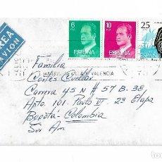 Sellos: ESPAÑA CORREO AEREO 1979 CARTA VOLADA DE ESPAÑA A COLOMBIA.. Lote 118245855