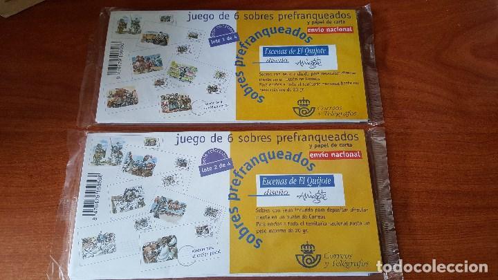 JUEGO SOBRES OFICIALES PREFRANQUEADOS ESCENAS DEL QUIJOTE AÑO 1999 (Sellos - España - Juan Carlos I - Desde 2.000 - Nuevos)