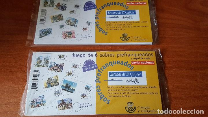Sellos: JUEGO SOBRES OFICIALES PREFRANQUEADOS ESCENAS DEL QUIJOTE AÑO 1999 - Foto 2 - 118560515