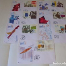 Sellos: SERIE DE 7 SOBRES, 1º DIA , MALAGA 2006, EXPO, MISMA NUMERACION TODOS, . Lote 118566311