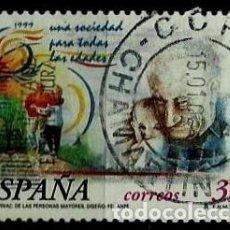 Sellos: ESPAÑA 1999- EDI 3660 (SERIE: MAYORES) USADOS. Lote 187110557